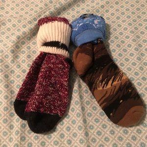 Cozy winter wool moose socks